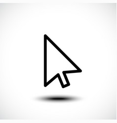 Computer mouse click pointer cursor arrow vector