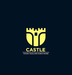 Creative abstract castle concept company logo vector