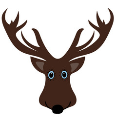 cute funny deer head cartoon vector image