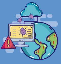 cybercrimes around the world vector image