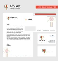 Danger board business letterhead envelope and vector