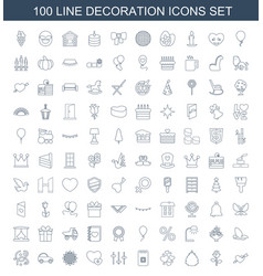 decoration icons vector image