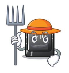 farmer button f10 in mascot shape vector image