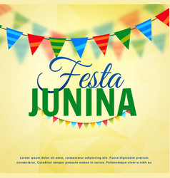 festa junina june festival of brazil design vector image
