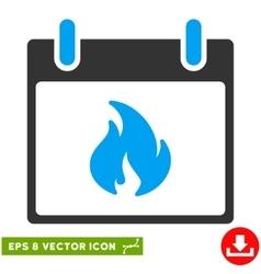 Flame Calendar Day Eps Icon vector