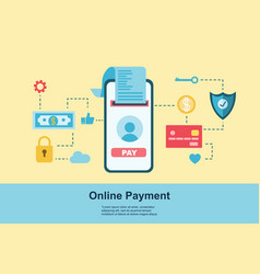 Flat design concept payment payment method and vector