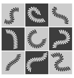flexible springs set vector image