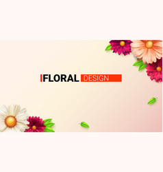 floral bouquet buds flower and leafs concept vector image