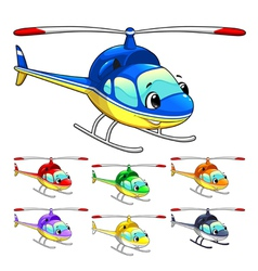 Funny helicopter vector