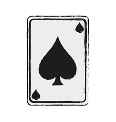 Game card spades icon image vector
