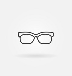 glasses outline icon sunglasses line vector image