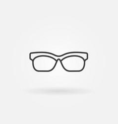 Glasses outline icon sunglasses line vector