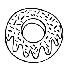 Glazed donut icon image vector