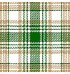 Green beige white check plaid seamless pattern vector image