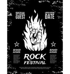 Grunge rock festival poster vector