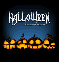 halloween banner scary spooky laugh mad pumpkin vector image