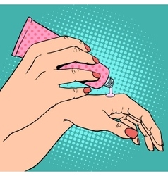 Hand cream cosmetics skin care vector