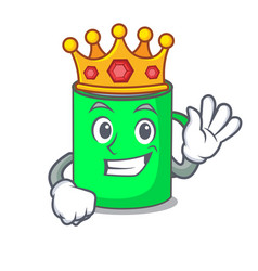 King mug mascot cartoon style vector