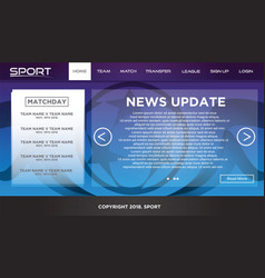 landing page sport template vector image