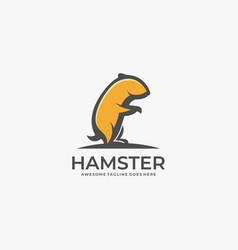 logo hamster mascot cartoon vector image