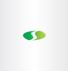 logotype green letter s logo icon design vector image