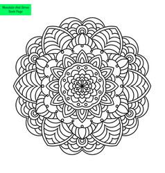 mandala flower ornamented vector image