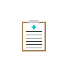medical clipboard solid icon medical form vector image