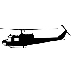 military helicopter vector image