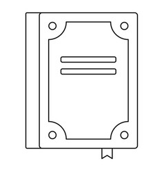 Novel icon outline style vector