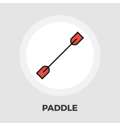 Paddle icon flat vector image