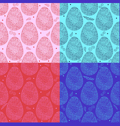 Pattern eggs11 vector