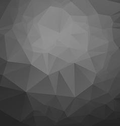 Polygonal black mosaic background vector