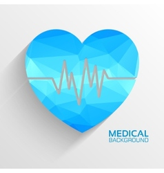 Polygonal medical heart background concept vector image