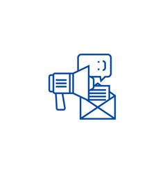 promotionadvertisingloudspeaker line icon vector image