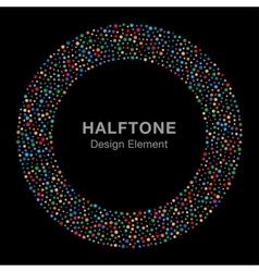 Rainbow Bright Celebration Holiday Circle Fram vector