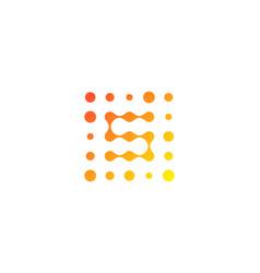 s letter dot logo icon design vector image