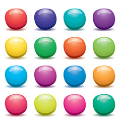 set of colorful fruit jellies on white background vector image