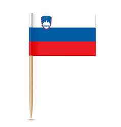 slovenia flag toothpick vector image