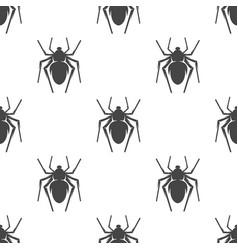 Spider seamless pattern vector