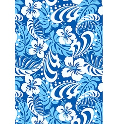 Tropical blue abstract repeat pattern vector