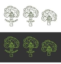 vegan related hand drawn t-shirt print vector image