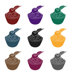 vegetarian dessert for vegetarians ice cream in a vector image