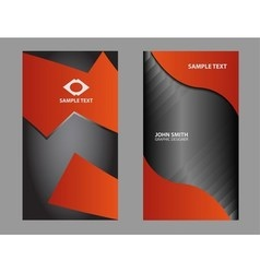 vertical business card vector image
