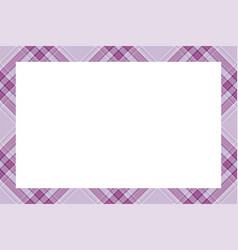 vintage frame scottish border pattern retro vector image