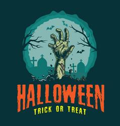 Vintage halloween colorful logotype vector