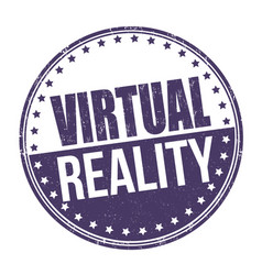 Virtual reality sign or stamp vector