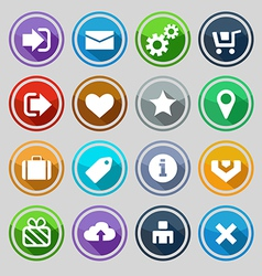 Web design round buttons set vector