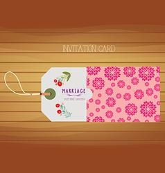 Wedding Stationery invitation card vector