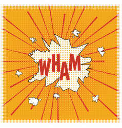 Wham poster in style a cartoon vector