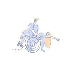 wheelchair dance disabled people dancing vector image